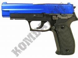 C228 Airsoft BB Gun Black and Blue